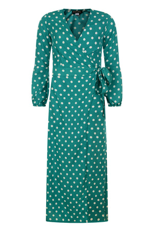 Kalani wrap dress - Green - OOTO