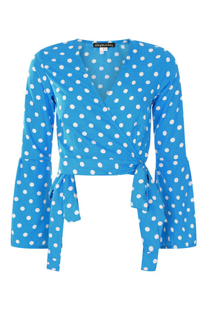 Pebble Polka dot Wrap Top - OOTO