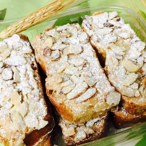 bostok or toasted brioche with almond cream and almond slices (pick-up only)