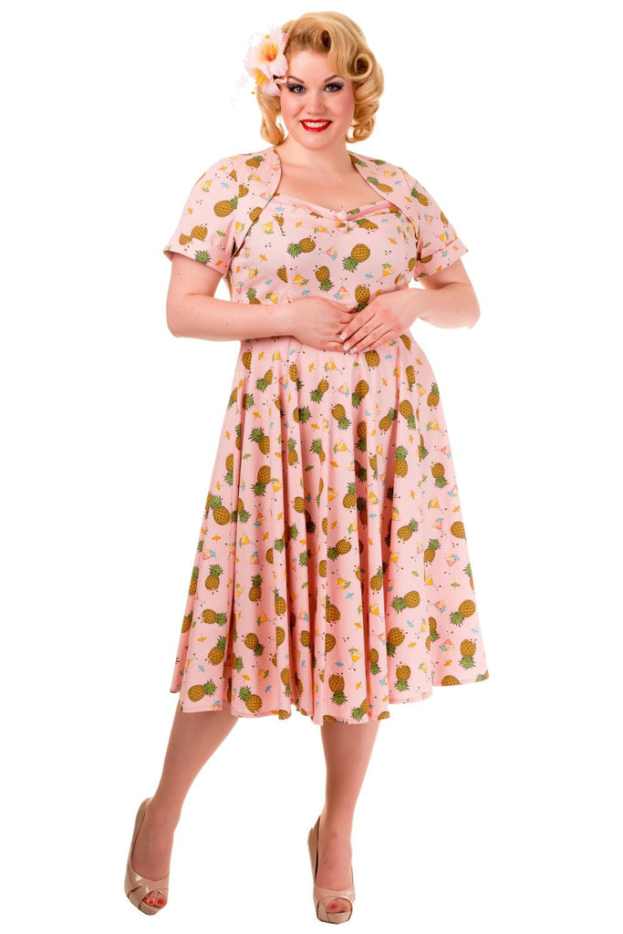Banned Pineapple Print Plus Size Dress