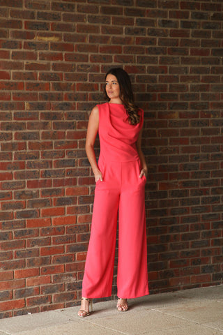 Harris Jumpsuit, Coral - JAMES STEWARD