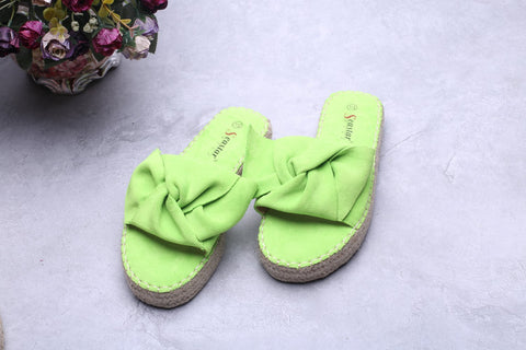 Twisted Knot Slides - Lime Green