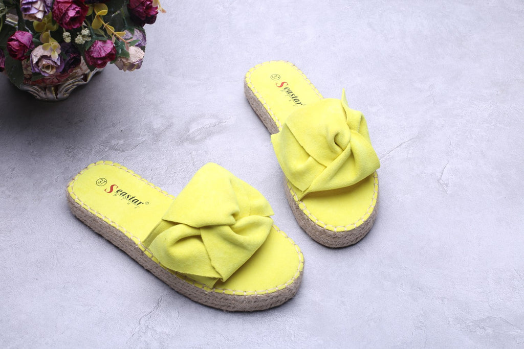 Twisted Knot Slides - Citrus Yellow