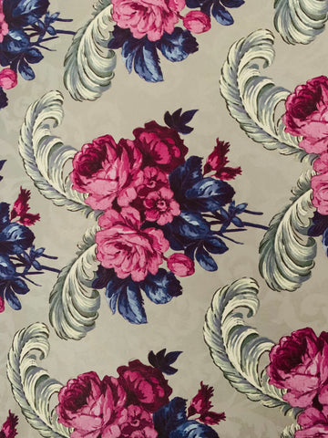 Lawrence Llewelyn Bowman Floral Design Gift Wrap - Ruby