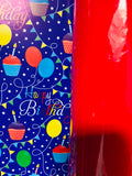 Gloss Red / Happy Birthday Gift Wrap
