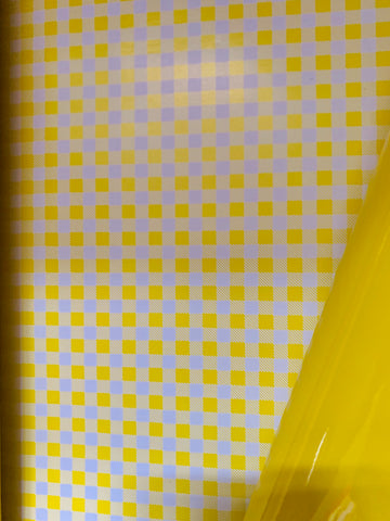 Gingham and Gloss Wrapping Paper - Yellow