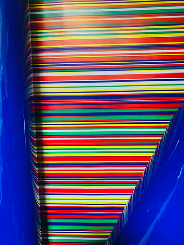 Gloss Blue / Multi Stripe Gift Wrap
