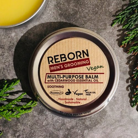Handmade Soothing Multi-Purpose Balm with Cedarwood Essential Oil - REBORN