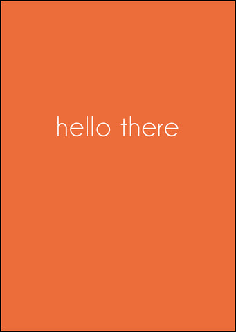 'Hello There' Greeting Card - Kraft Orange