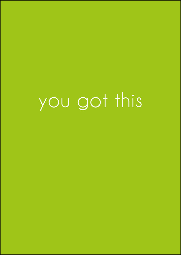 'You Got This' Greeting Card - Kraft Lime