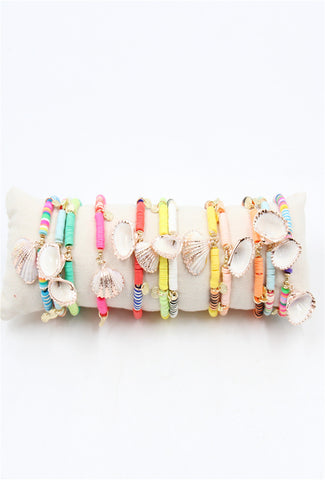 Shell & Bead Bangles - MULTI