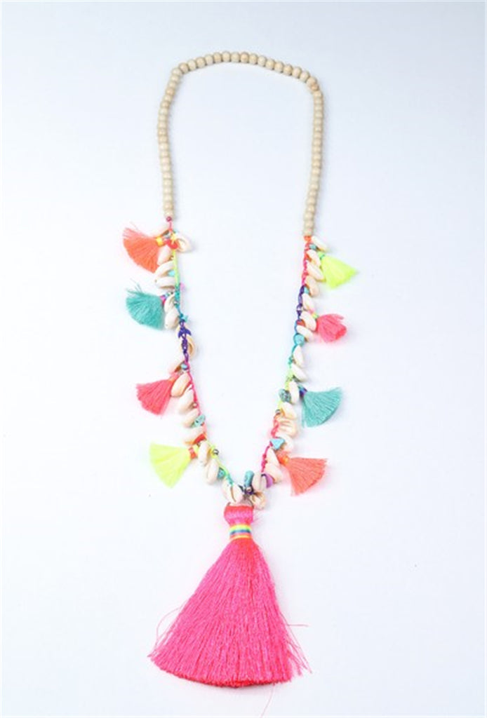 Tassel & Shell Necklace - MULTI