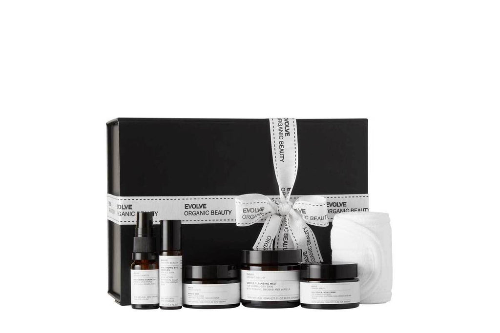 Get up and Glow - Facial In A Box Gift Set - Evolve Organic Beauty