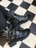 Biker Boots With Stud Detail