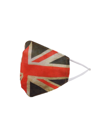 Union Jack Unisex polycotton Face Mask - Red/White/Blue