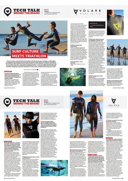 Volare in Australian Triathlete Magazine - August 2018