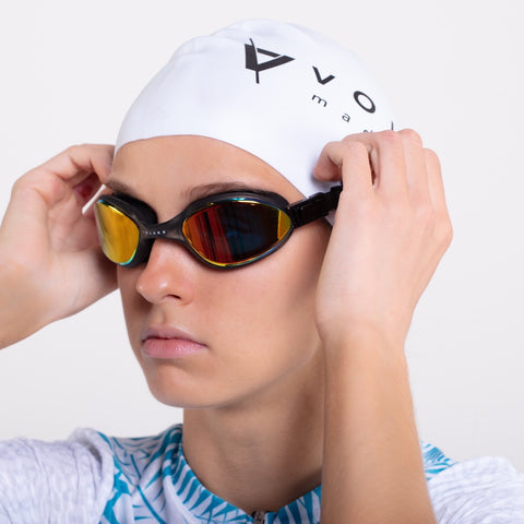 Volare Noosa Swim Goggle Black Gold Mirror