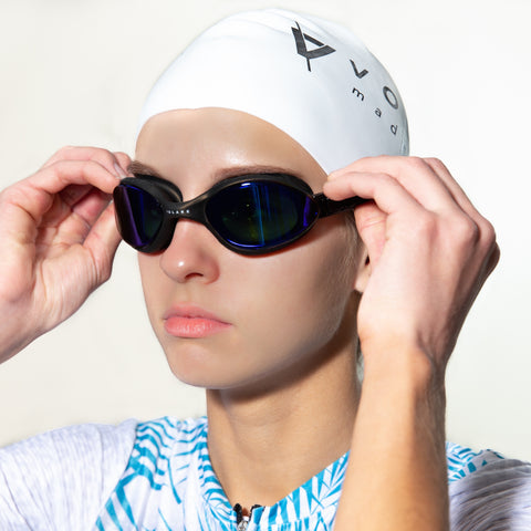 Volare Noosa Swim Goggle Black Blue Mirror