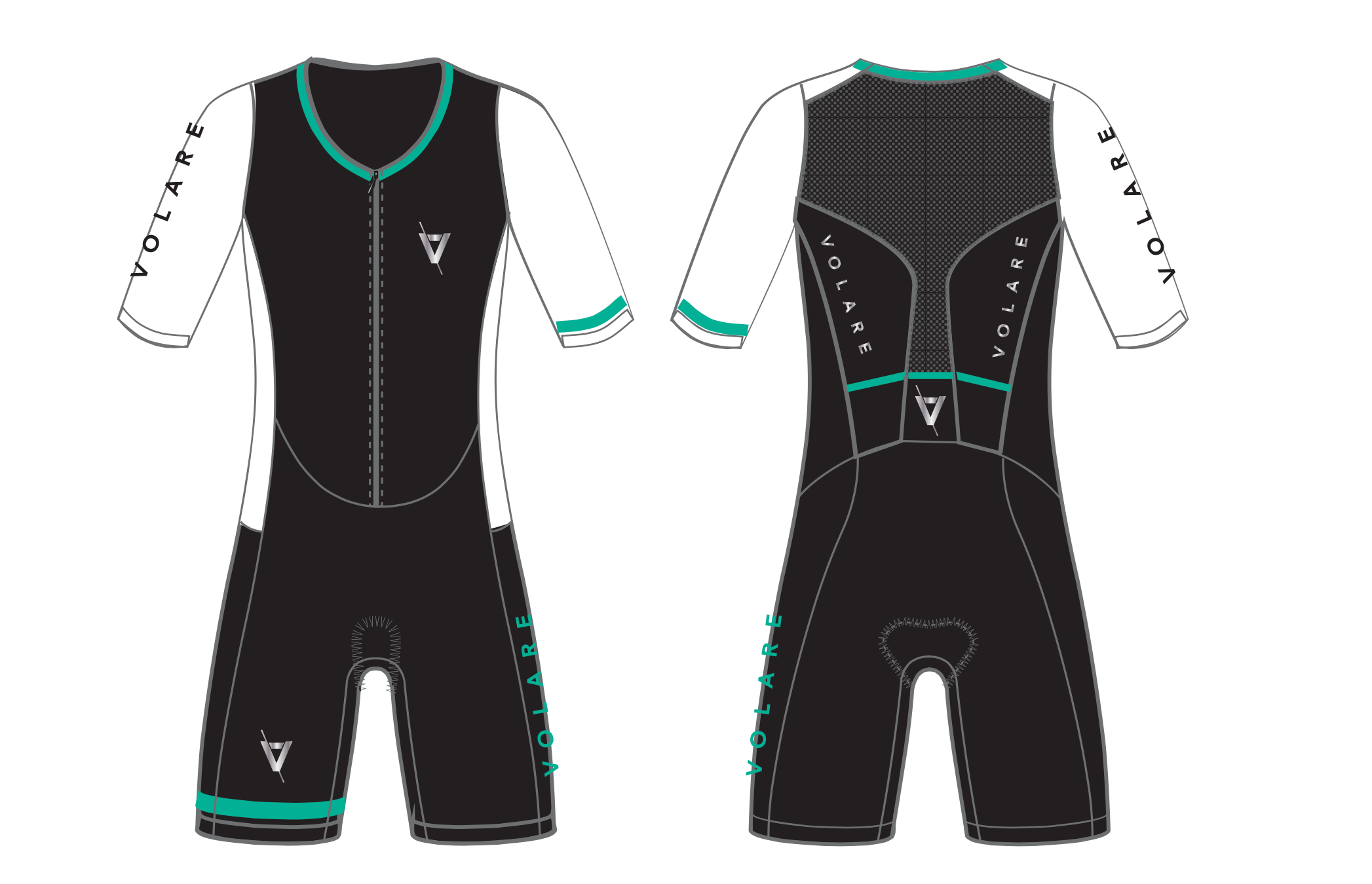 Womens Sleeved Tri Suit
