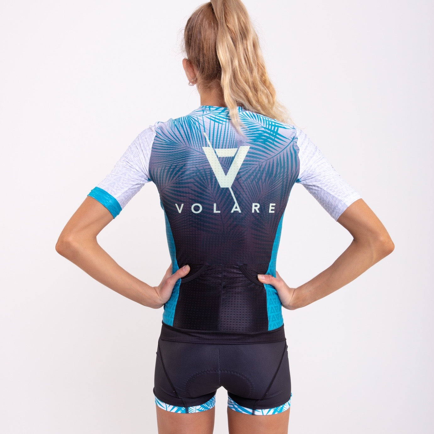 Volare Womens Palms Short Sleeved Aero Tri Top
