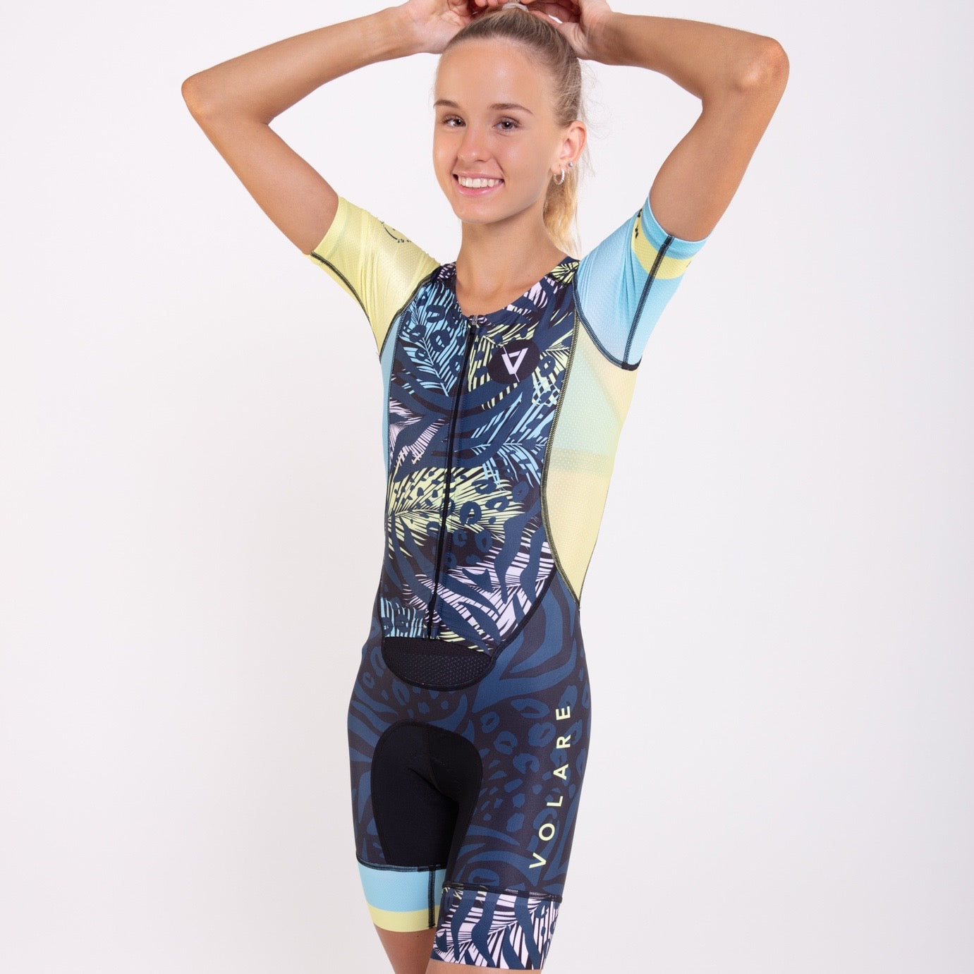 Volare Womens Animals Sleeved Tri Suit