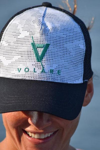 Volare Trucker Cap - Black and White