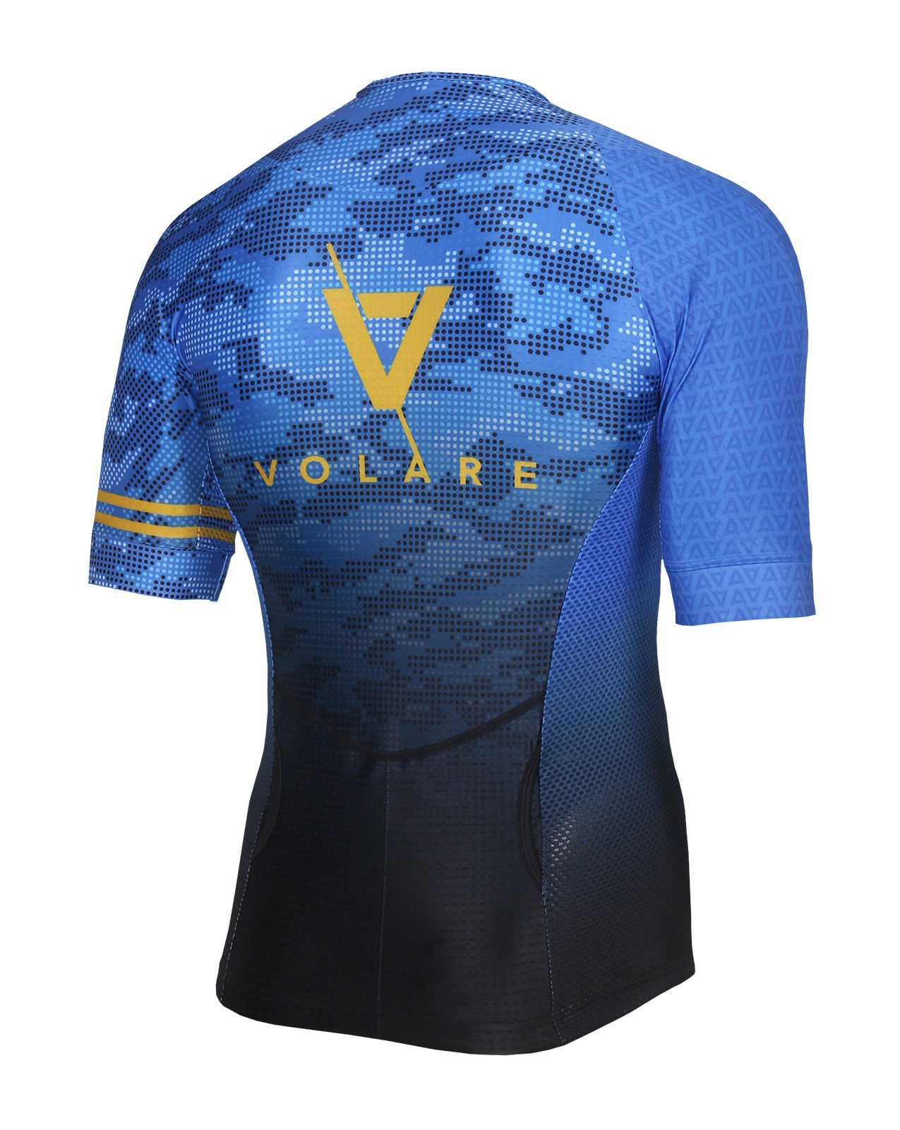 Volare Mens Camo Sleeved Tri Top