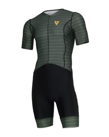 Volare Mens Military Sleeved Aero Tri Suit