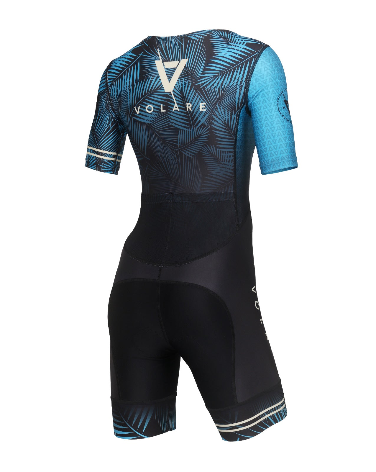 Volare Womens Palms Dark Sleeved Tri Suit