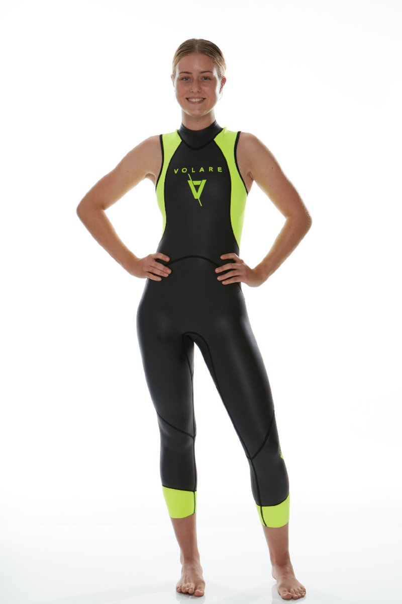 352d89cd5f V1 Sleeveless Womens Triathlon Wetsuit
