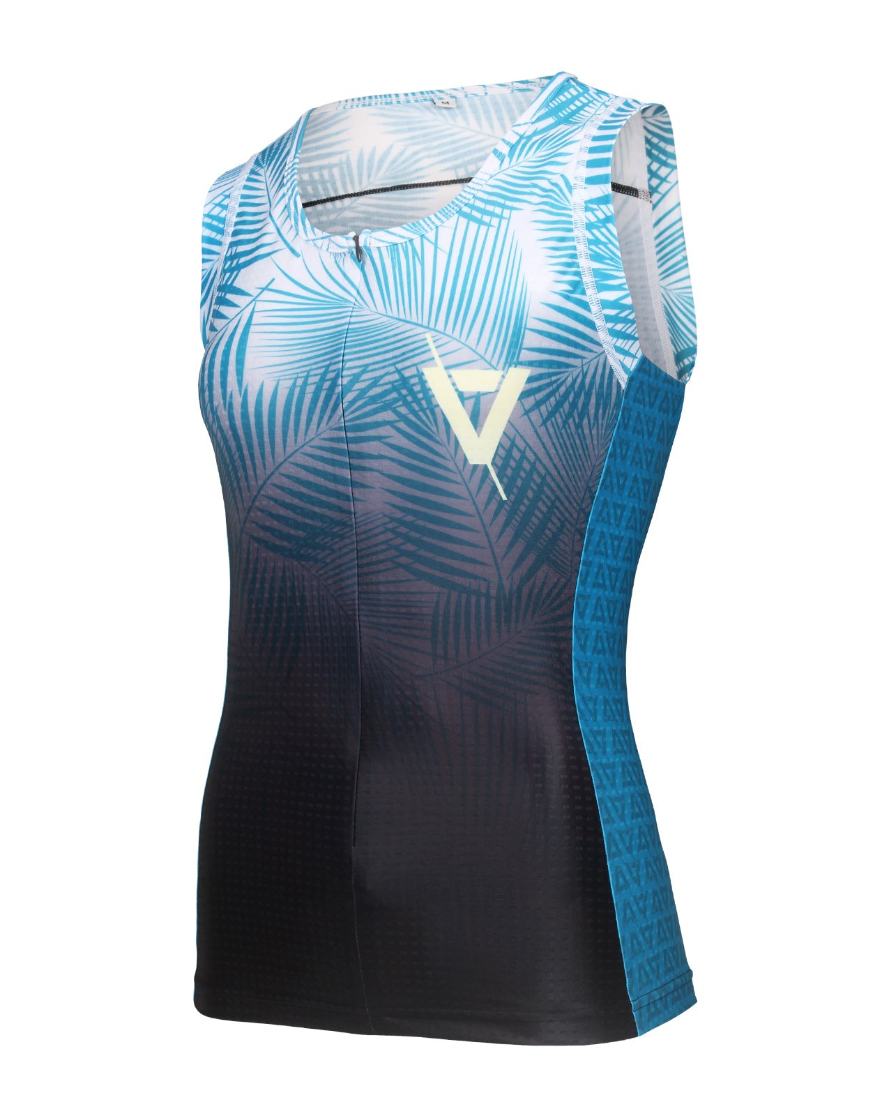 Volare Womens Palms Sleeveless Aero Tri Top