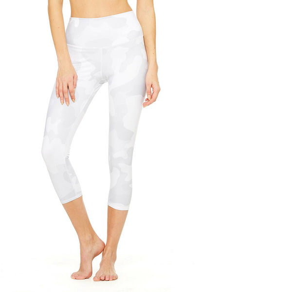 High-Waist Airbrush Capri