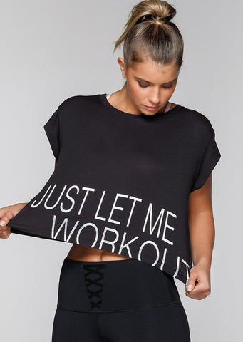Workout Cropped Tee