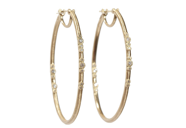 Elongated Diamond Hoops