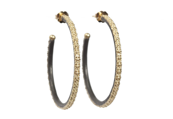 Yellow Gold Scalloped Hoops