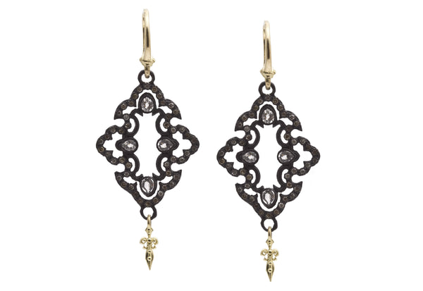 Open Scroll Drop Earrings