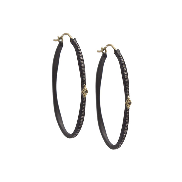Champagne Diamond Hoops