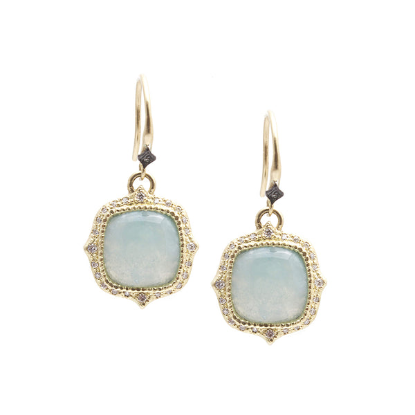 Aquaprase Cushion Drop Earring