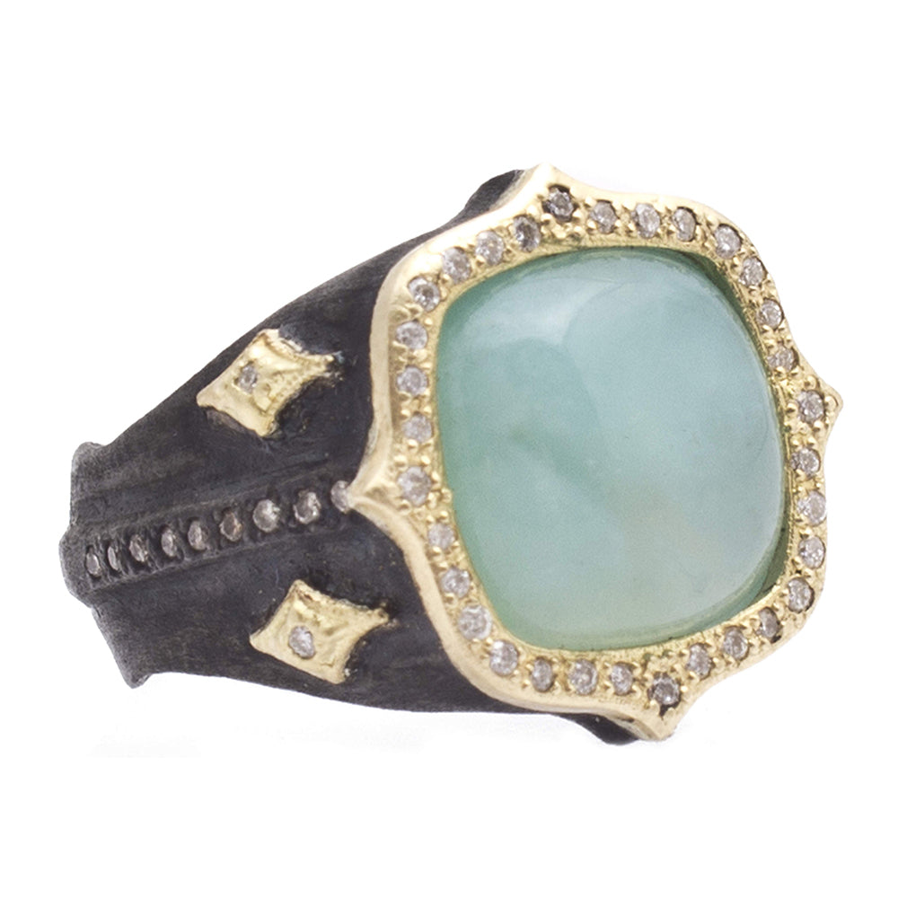 Aquaprase Signet Ring