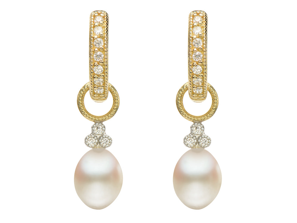 Oval Pearl Charms
