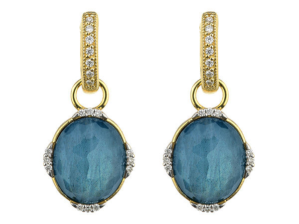 Oval Labradorite Earring Charms