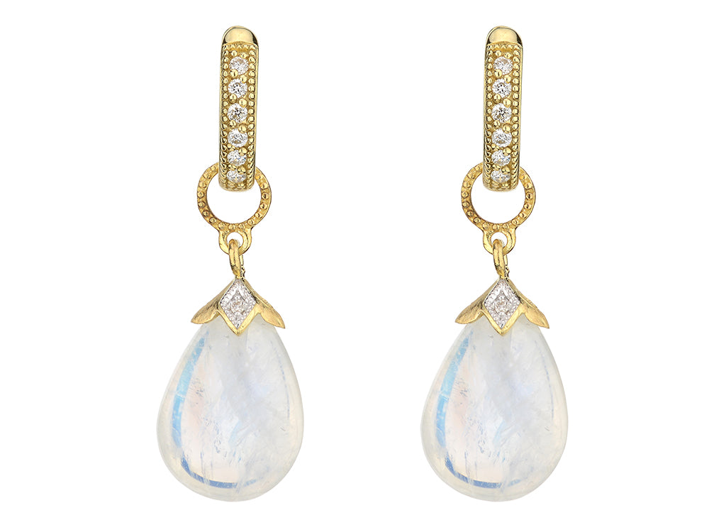 Pear Shaped Moonstone Charms