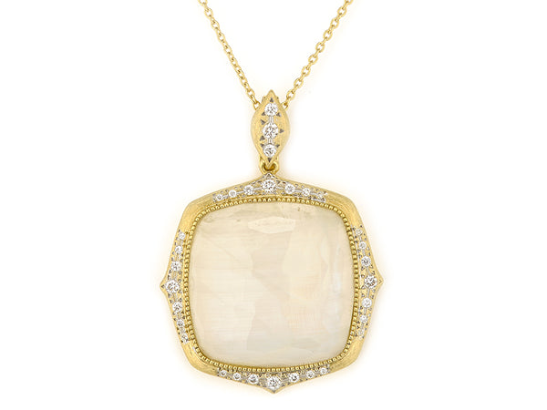 Moroccan Marrakesh Cushion Stone Pendant