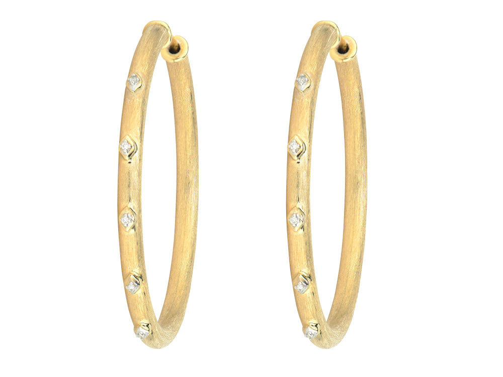 Large Flexible Gold Hoops