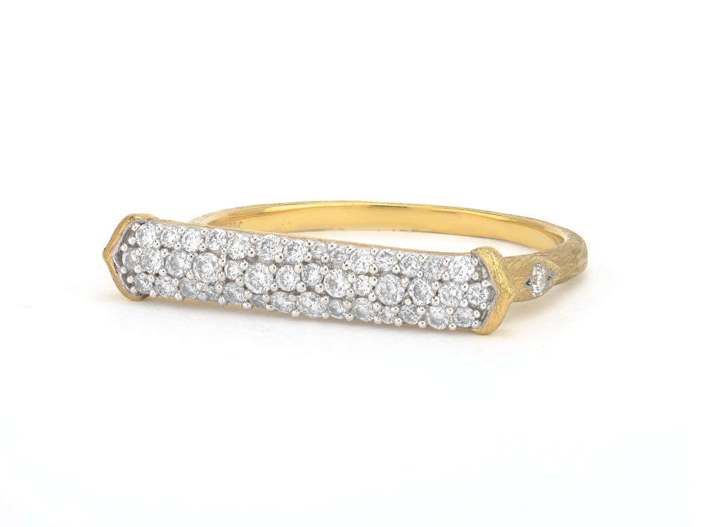 Triple Pave Bar Ring