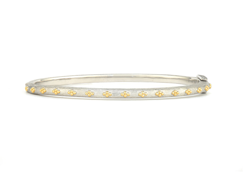 Mixed Metal Beaded Bangle