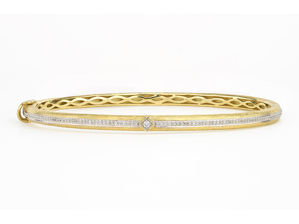 Brushed Bangle with Diamond Accent