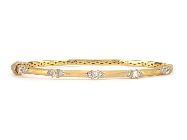 Half Kite Baguette Brushed Bangle