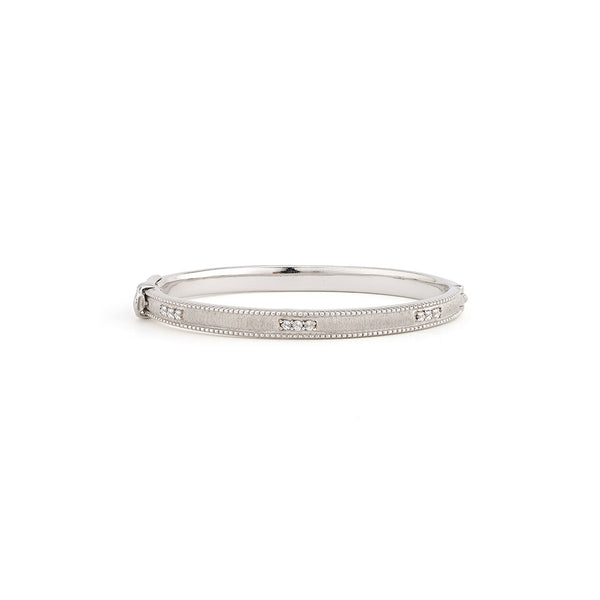 Narrow Lisse Sterling Silver Bangle