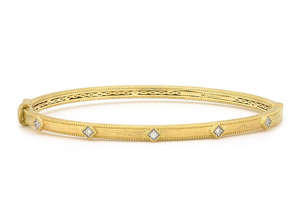 Simple Accent Diamond Bangle